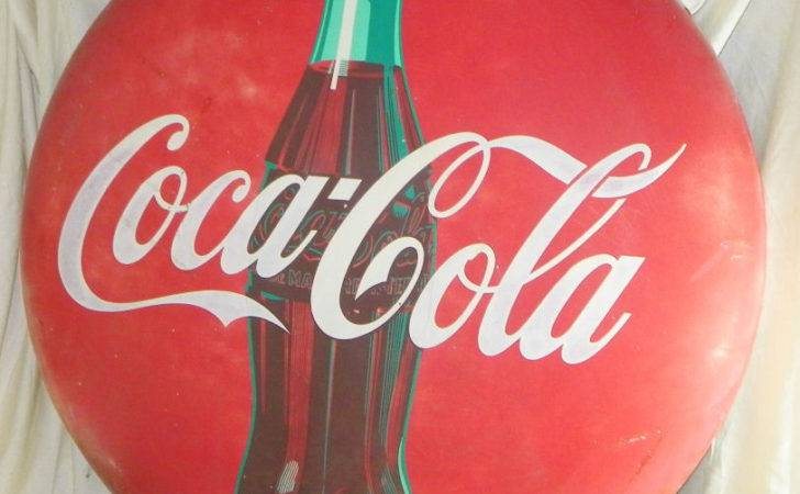 Antique Coca Cola Advertising Coke Button Sign Ebay