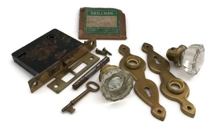 Antique Door Knobs Crystal Mortise Lock