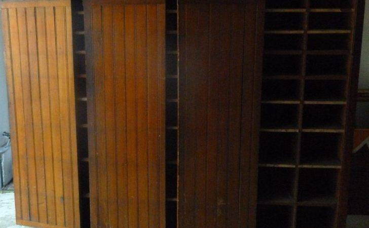 Antique Hardware Store Cabinet Hutch Shoe Sneaker Display Case Factory