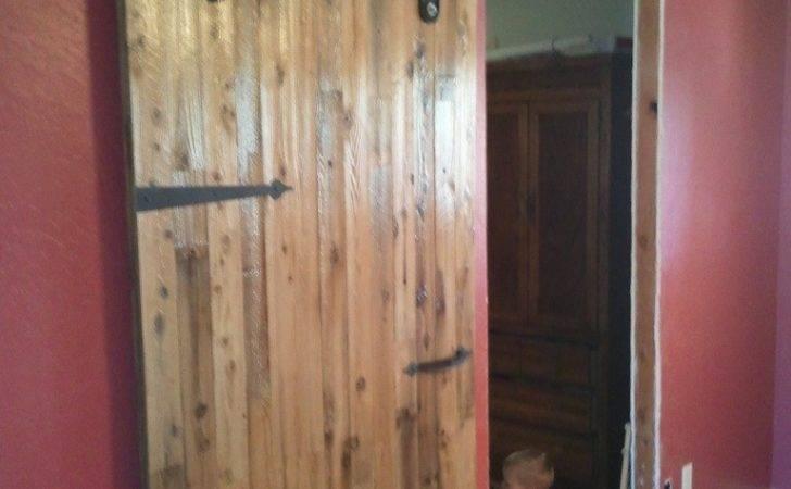 Antique Industrial Hardware Sliding Barn Door Porter Wood
