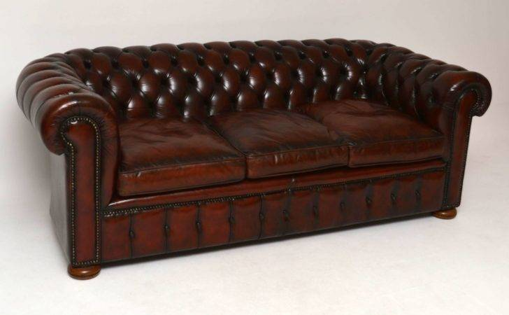Antique Leather Chesterfield Sofa England