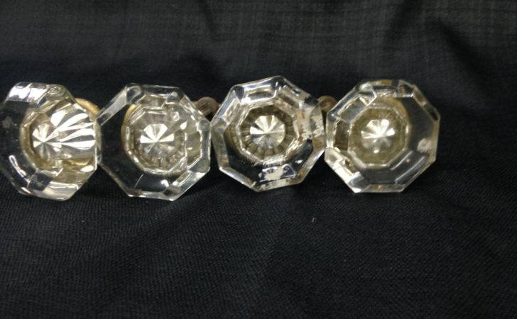 Antique Octagonol Crystal Door Knob Governorsantiquesva