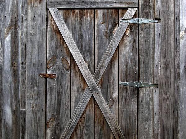 Antique Photograph Rustic Old Wooden Barn Door Heather Reeder