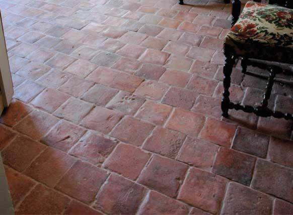 Antique Terracotta Flooring Red Square Francois Floor Tiles