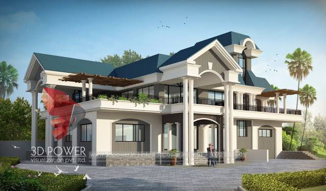 Apartment Elevation Architectural Rendering