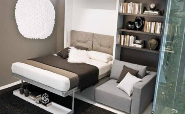 Apartments Trendy Wall Hidden Bed Desk Combo Shaped Open