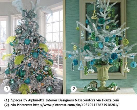 Aqua Christmas Ornaments Invitation Template