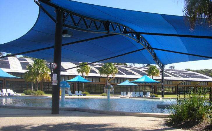 Aquatic Centre Shade Structures Swimming Pool Sails