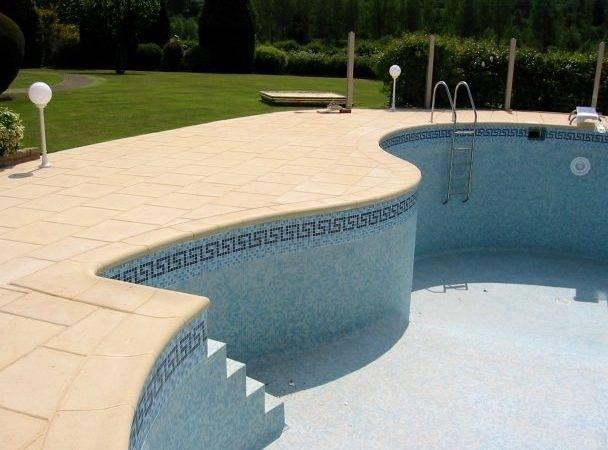 Aquitaine Pool Coping Wide Swimming Edging Elegant