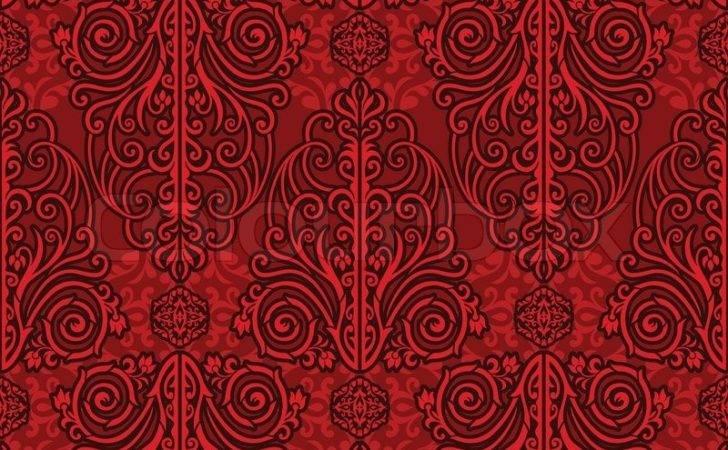 Arabeske Stoffe Dekoration Design Vektor Colourbox