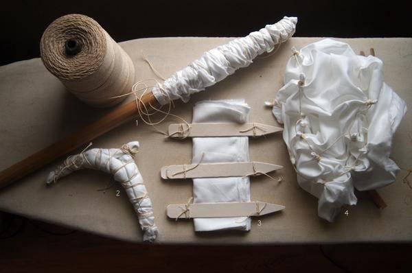 Arashi Shibori Also Known Pole Wrapping