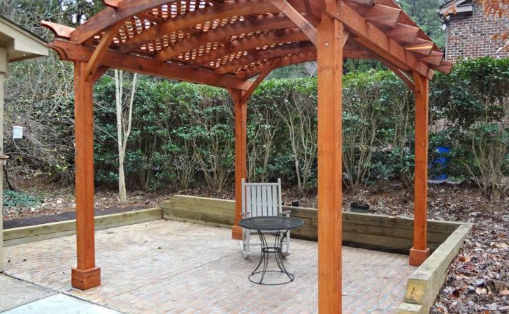 Arched Pergola Kits Redwood Garden Pergolas