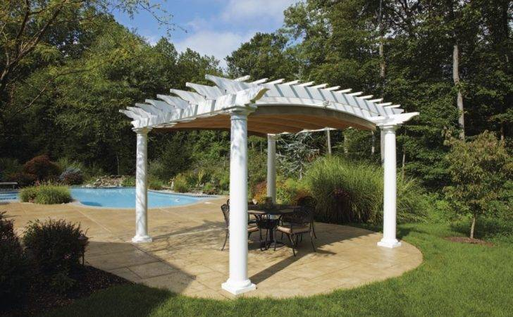 Arched Poolside Pergola Shadefx Canopy Extended Installed