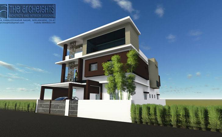 Archeights Independent House Elevation Designs South India
