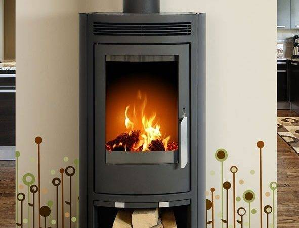 Arctic Contemporary Wood Burning Stove