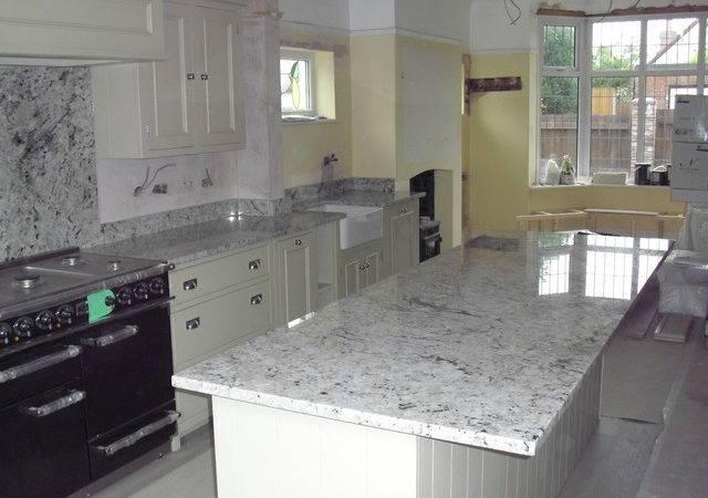 Arctic Cream Granite Island Worktop Traditional Kitchen Worktops