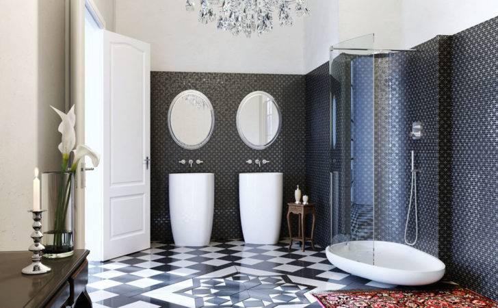 Art Deco Inspired Italian Bathroom Interior Design Ideas