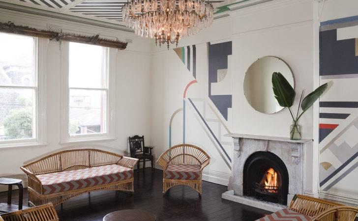 Art Deco Living Room Contemporary Geometrical Elements