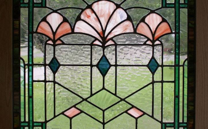 Art Deco Shells Stained Glass Window