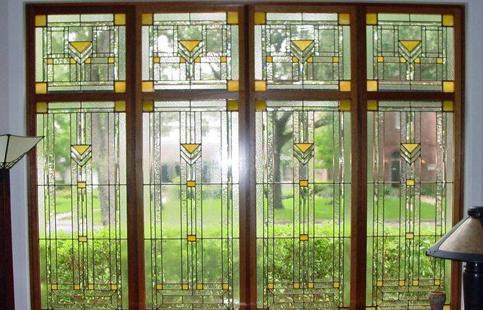 Art Glass Window Using Clear Textures Combination