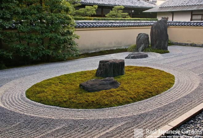 Art Gravel Pattern Japanese Garden Real Gardens