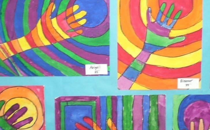 Art Mrs Hurley Warm Cool Hands Third Grade