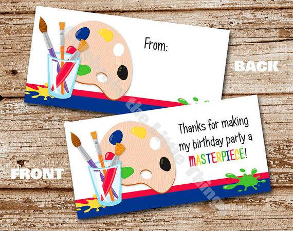 Art Party Bag Toppers Artist Crafts Pottery Painting Favor