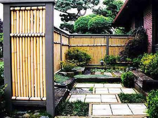 Art Wall Decor Bamboo Fence Styles Design