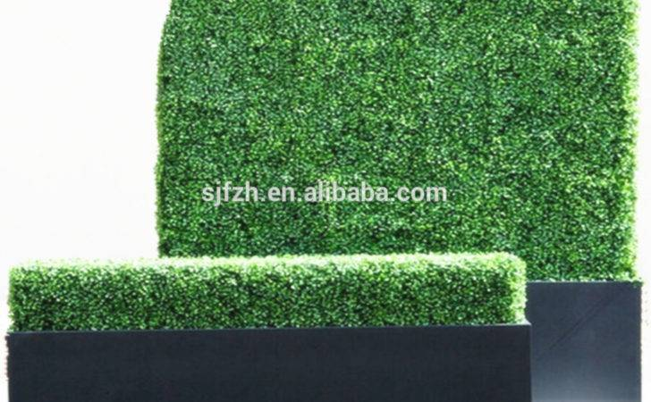 Artificial Boxwood Hedge Outdoor Decoration Plastic