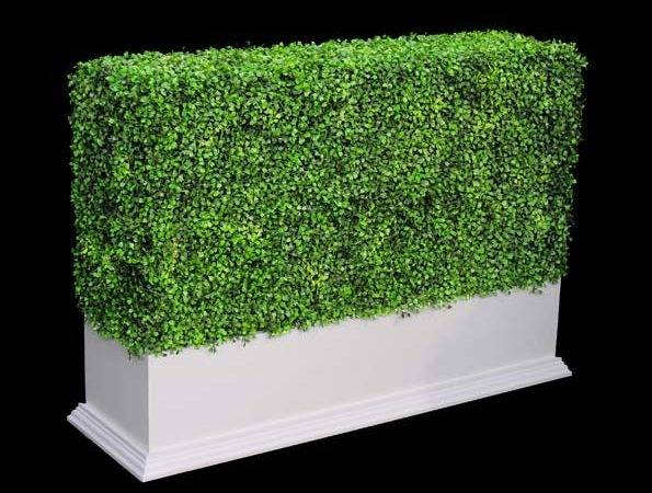 Artificial Boxwood Hedges Silk Outdoor Faux