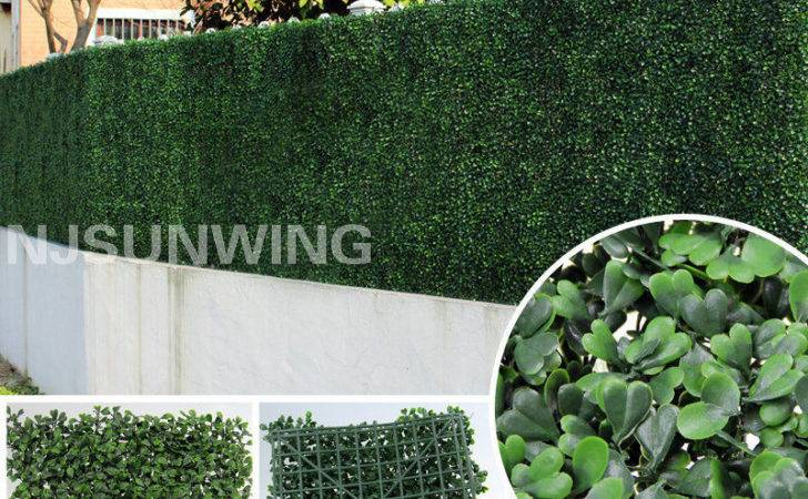 Artificial Boxwood Mat Hedge Fence Greenery Panel Outdoor Topiary