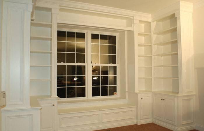 Artisan Custom Bookcases Sitting Window Seat