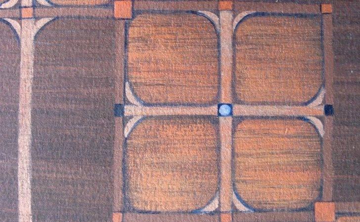 Arts Crafts Mission Style Floorcloth Rug Griffindesign