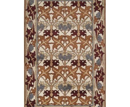 Arts Crafts Mission Style Ivory Wool Area Rug