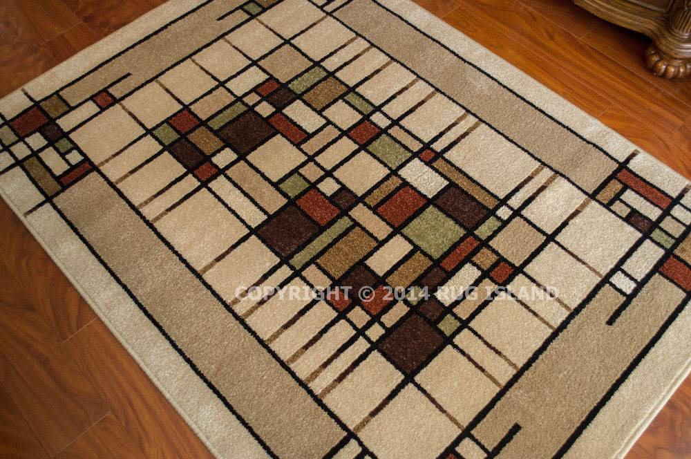 Arts Crafts Mission Style Lodge Indoor Outdoor Area Rug Ebay