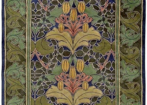 Arts Crafts Rug Voysey Lilly Vine Gorgeous