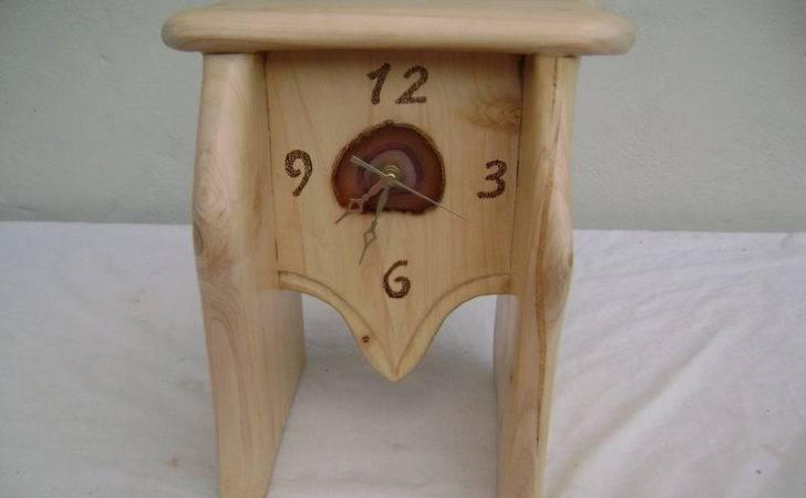 Artwork Creative Wood Designs Cypress Rock Clock