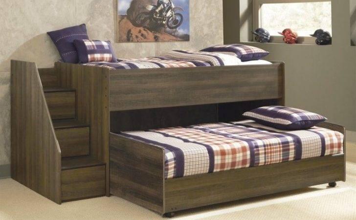 Ashley Furniture Juararo Loft Bed Caster Dark Brown Ebay
