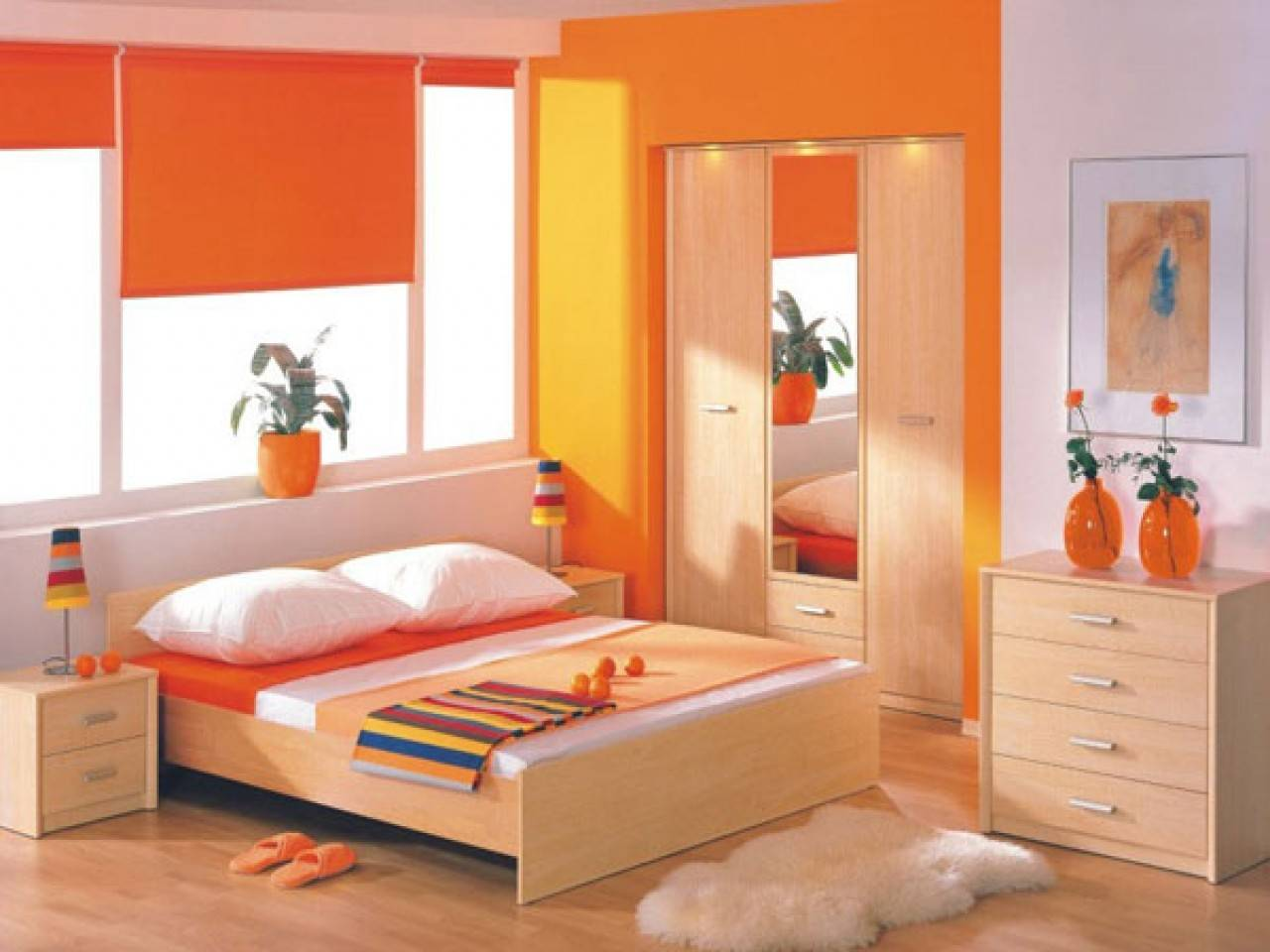 Asian Paints Colour Combinations Orange Bedroom Ideas