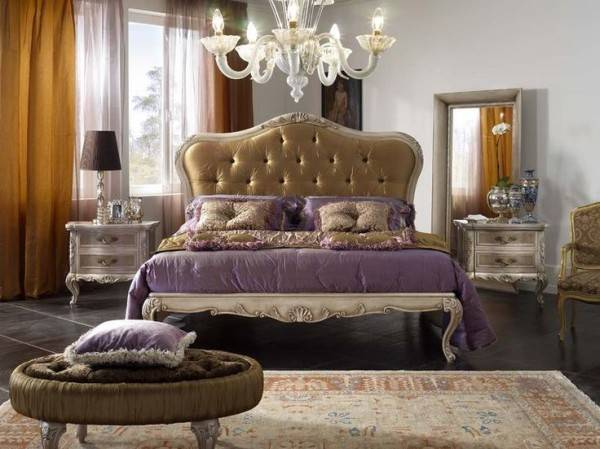 Astonishing Italian Bedroom Furniture Designs Including Button Tufted
