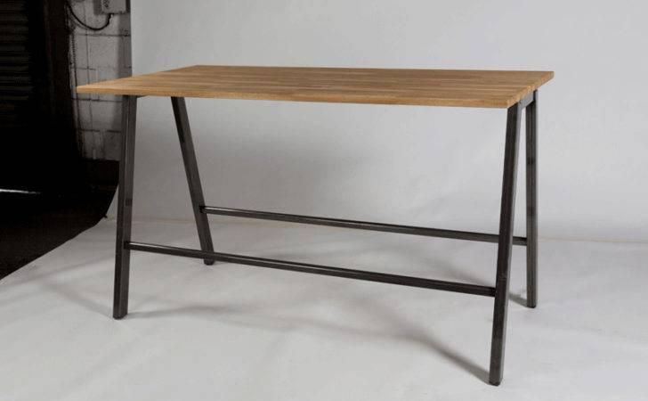 Athens Bench Style Poseur Table Oak Top London