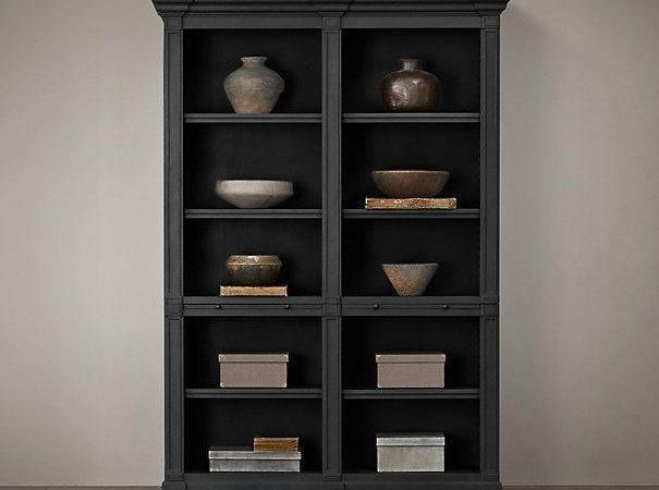Atkins Double Low Bookshelf Restoration Hardware Bookcase Option