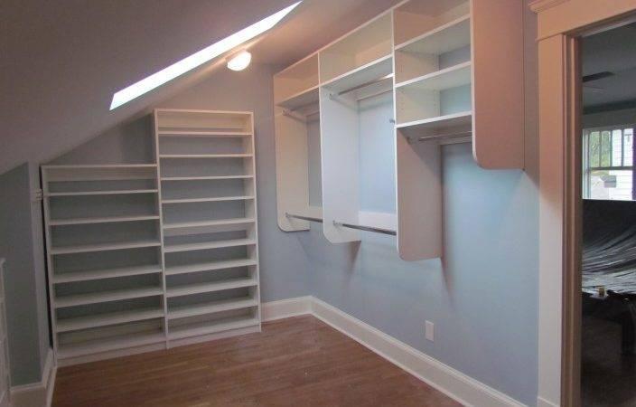 Atlanta Closet Vaulted Ceiling Right Sloped
