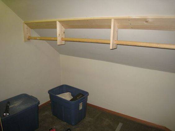 Attic Closet Diy Build Sloped Bedroom
