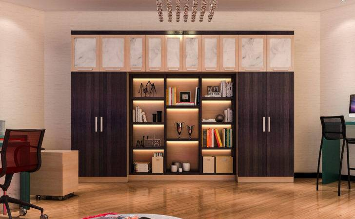 Attractive Custom Home Office Built Storage Double