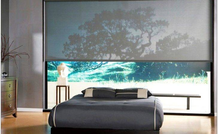 Attractive Large Windows Treatments Ideas White Color Jelousie Wooden