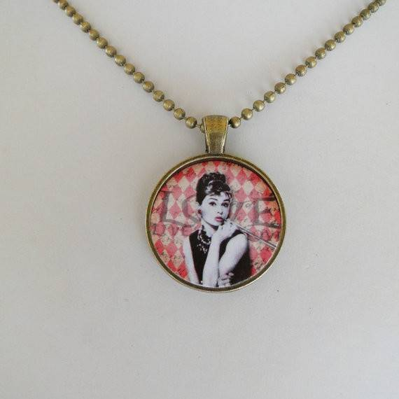 Audrey Hepburn Pendant Necklace