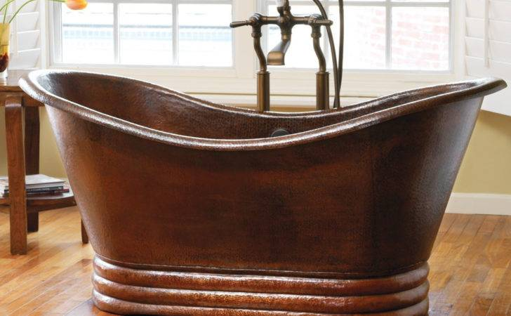 Aurora Freestanding Copper Bathtub Native Trails
