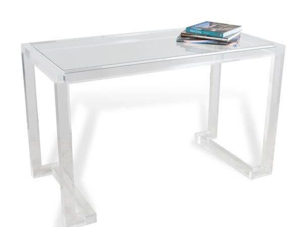 Ava Acrylic Desk Design Interlude Home Burke Decor