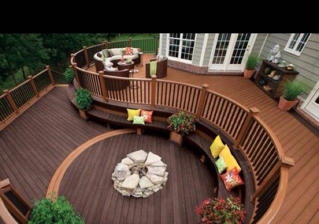 Awesome Deck Idea Home Pinterest